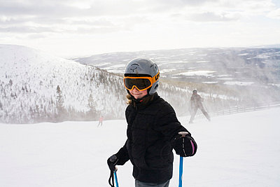 Girl in the slalom slope, Sweden. - p31224250 by Susanne Walstrom