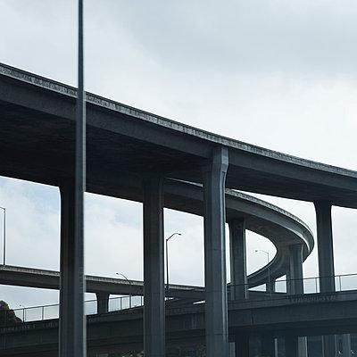 Los Angeles freeway - p495m903923 by Jeanene Scott
