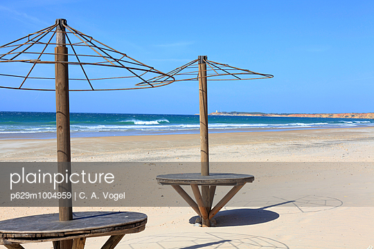 Am Strand, Andalusien, Conil - p629m1004959 von C. A. Vogel