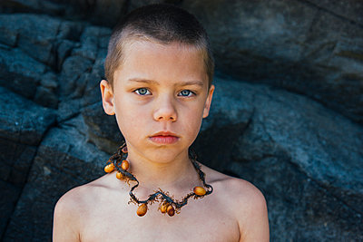 Seaweed Necklace - p1262m1083658 by Maryanne Gobble
