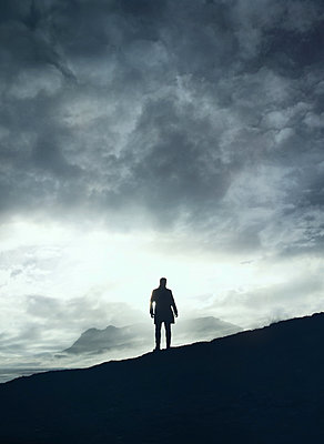 silhouette of a man - p984m2072775 by Mark Owen