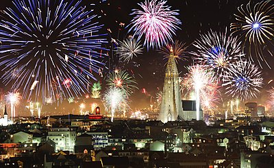 New Years in Reykjavik, Iceland - p1084m1118716 by GUSK