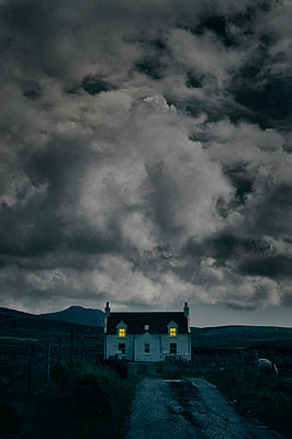 Farmhouse in South Uist, Scotland - p470m2108851 by Ingrid Michel