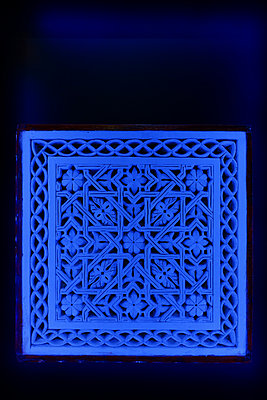 Ornament in blue colours - p1189m1218659 by Adnan Arnaout