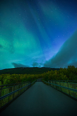 A rural road at night in Sweden - p352m1523684 by Calle Artmark
