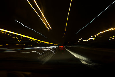 Light trails - p445m931981 by Marie Docher