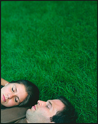 """Man and woman, asleep in grass"""" - p3720302 by James Godman"""