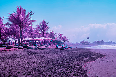 Infrared photography, Holidays on the beach  - p1487m2125529 by Ludovic Mornand