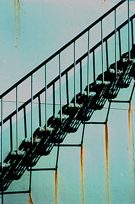 Stahltreppe - p277m883386 von Dieter Reichelt