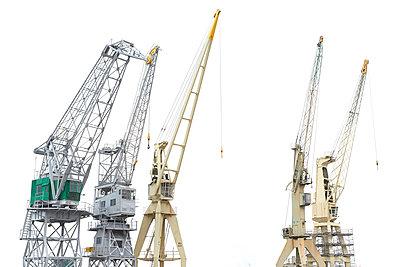 Several dockside cranes - p587m1155081 by Spitta + Hellwig