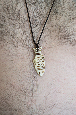 Hairy chest with fish-necklace - p1199m2100311 by Claudia Jestremski
