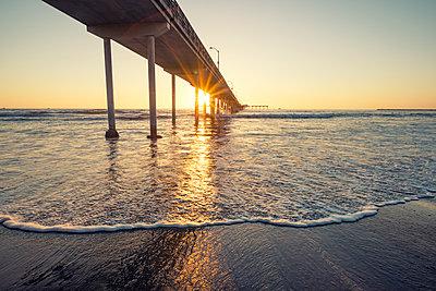 Ocean Beach Pier - p1436m1493006 by Joseph S. Giacalone