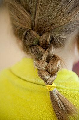 girl, braid, hair, - p694m810983 by Alysia Macaulay