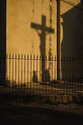 Shadow of crucifix on wall - p301m1534999 by Halfdark