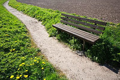 Bench at the wayside - p1057m901969 by Stephen Shepherd