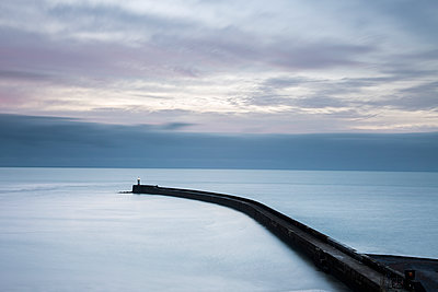 Newhaven pier at dawn - p1516m2158258 by Philip Bedford
