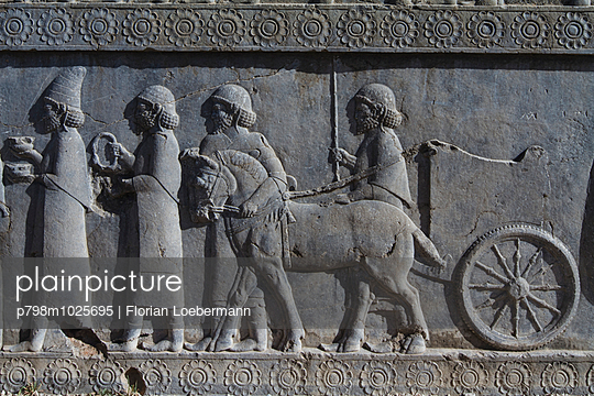 Bas-relief of the representation of all nations of the Persian empire - p798m1025695 by Florian Löbermann