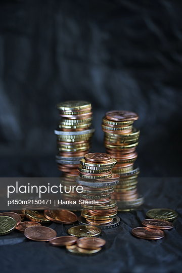 Coin stack - p450m2150471 by Hanka Steidle