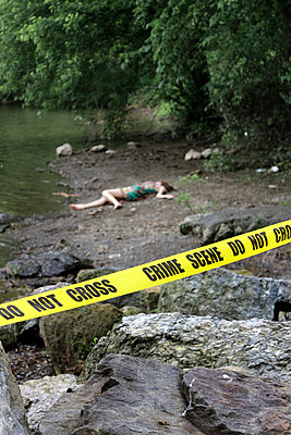Crime Scene at a River IV - p1019m808009 by Stephen Carroll