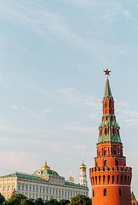 Water tower and kremlin - p1085m2073254 by David Carreno Hansen
