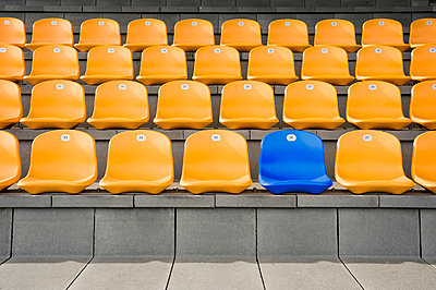 Germany, Bavaria, Empty stadium seats - p300m980322f by Robert Niedring