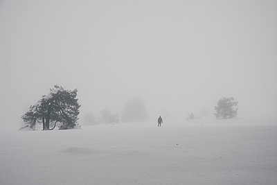 Wanderer im Schnee - p1626m2195507 von Arne Eichhof