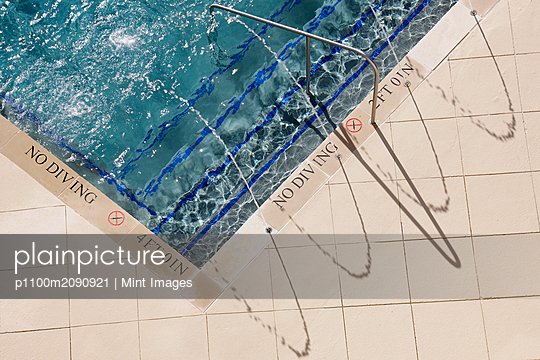 Swimming Pool Steps - p1100m2090921 by Mint Images