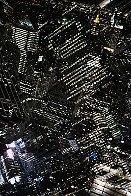 Multi-layered images of Midtown Manhattan, New York, USA - p301m960805f by Michael Mann