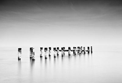 Breakwater - p1256m2099738 by Sandra Jordan