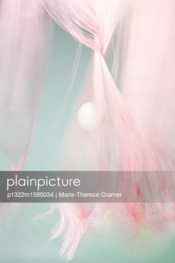 Mystic ball and pink fabric - p1322m1585034 by Marie-Therese Cramer