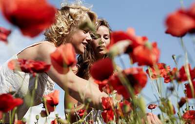 Picking flowers - p9390005 by Kristin Schnell