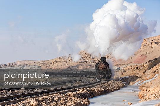 Güterzug im Winter - p1208m1582643 von Wisckow