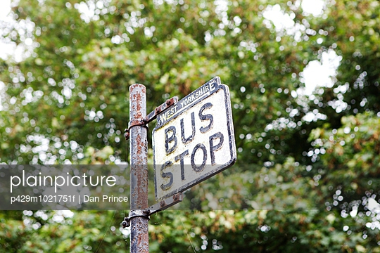 Bus stop sign - p429m1021751f by Dan Prince