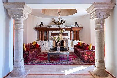 Arabic room with pillars - p1390m1591053 by Svetlana Sewell