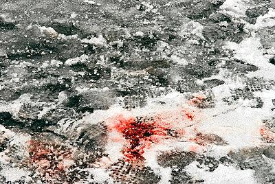 Blut im Schnee - p4510216 von Anja Weber-Decker