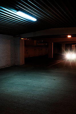 Parking garage at night  - p1280m1585971 by Dave Wall