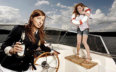 Betrunken auf 'ner Yacht - p6450035 von Maren Böttcher