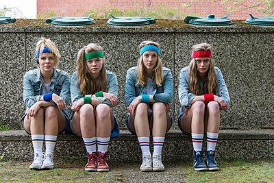 Tennis socks - p1066m1122620 by Ulrike Schacht