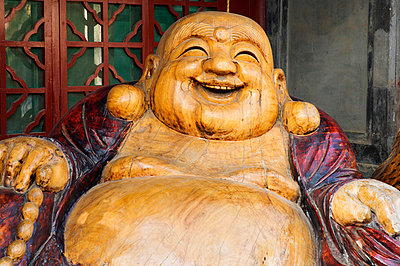 Laughing Buddha, Tanzhe Temple, Beijing, China, Asia - p8712116 by Jochen Schlenker