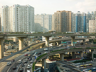 Elevated highway in shanghai - p9249154f by Image Source