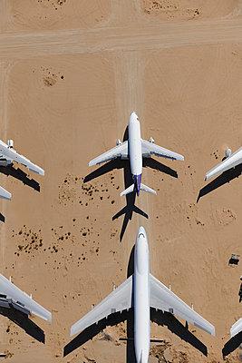 Boeing 747 & Airbus jet storage - p1048m1058613 by Mark Wagner