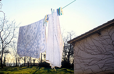 Washing on Line - p1072m829336 by Neville Mountford-Hoare