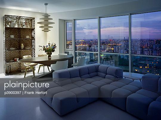 Penthouse in Moskau - p3900397 von Frank Herfort