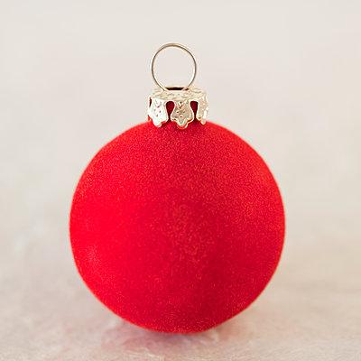 Red Christmas ornament - p495m2297864 by Jeanene Scott