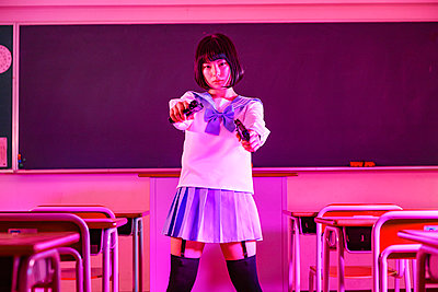 Japanese high-school girl gone bad - p307m2019867 by Shingo Tosha