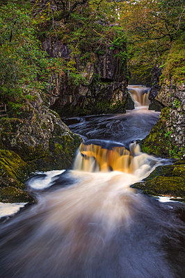 The Ingleton Waterfalls Trail, 5 miles long, with a vertical rise of over 500 feet; Ingleton, North Yorkshire, England - p442m1580384 by Philip Payne