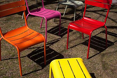 Garden chairs - p756m813313 by Bénédicte Lassalle