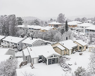 Houses at winter - p312m2119473 by Johner