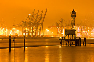 Harbour in Hamburg; Germany - p8510252 by Lohfink