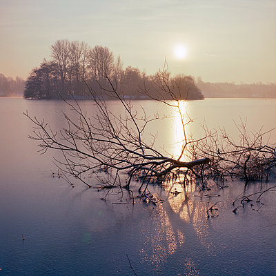Frozen lake - p324m943338 by Alexander Sommer